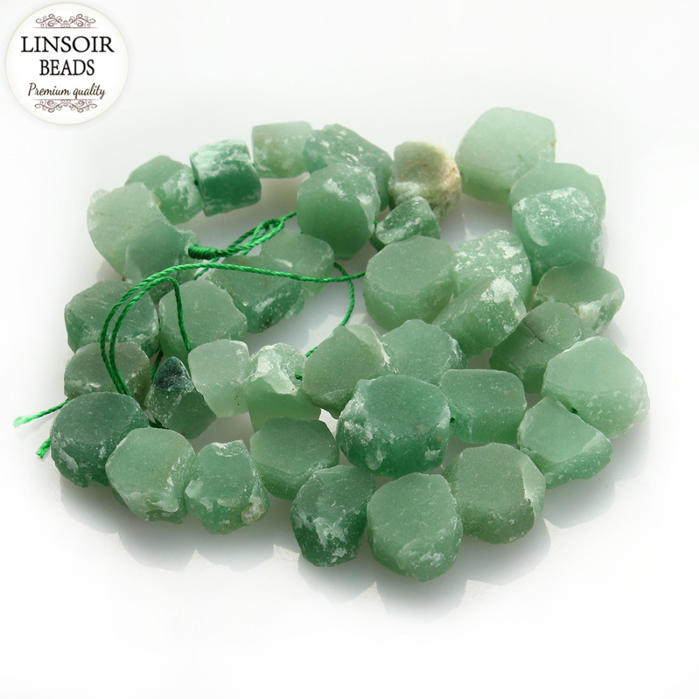 Approx 36pcs/Strand 14-18mm Green Natural Stone Rough Loose Beads Irregular Raw Rough Gem Stone Women For Jewelry Marking F2982<br><br>Aliexpress