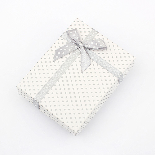 Wholesale 9.5*7*2.6cm Display Paper Box Necklace Dots Box Packaging Bowkont Gift Box Jewelry High Quality(China (Mainland))