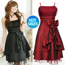 Free shipping women's sexy night club cocktail party pinafore Chiffon halter Dress Color Red Rose Green Black Purple WTS031(China (Mainland))
