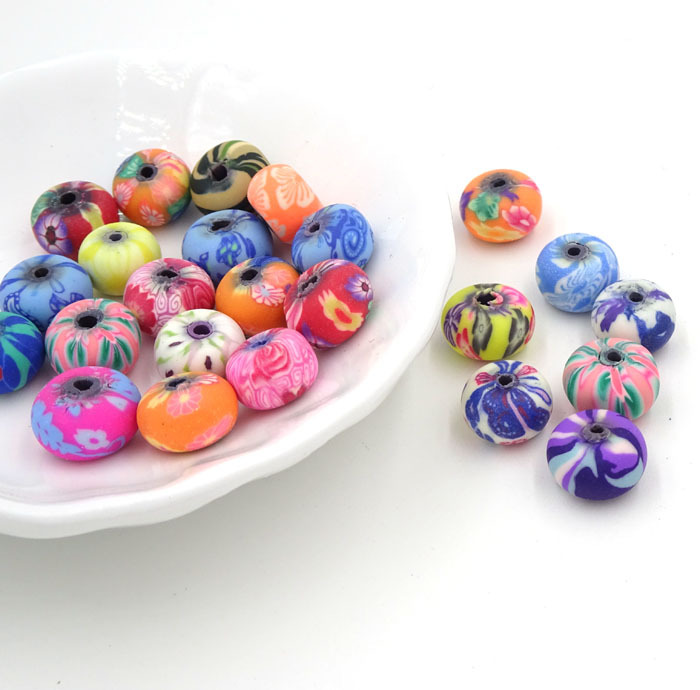 6*9mm Mix Diy Beads Of Polymer Clay Wholesale Bulk Bead Creation Bijoux Parts To Make Jewelry Boncuk All For Crafts 100Pcs(China (Mainland))