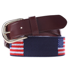 Buy Hongmioo 2017 Men Belt Luxury Famous Brand Flag Needlepoint Men Belt Leather Genuine Leather Strap Blue Red Color for $24.98 in AliExpress store