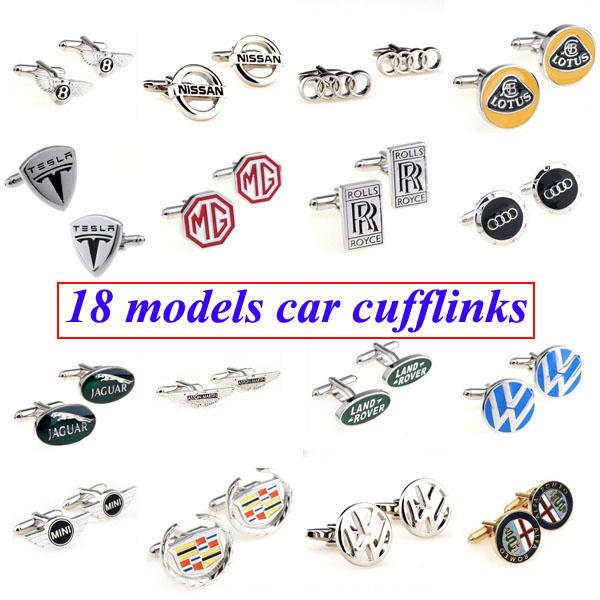 Fashion Car Logo Cufflink Cuff Link 1 Pair Free Shipping Biggest Promotion(China (Mainland))