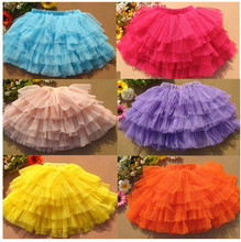 Free Shipping Hot Sale Fashion Summer Girl's Candy Color Perform Dance Bubble Skirt  9 Colors
