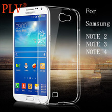 Ultra-thin Clear Silicon TPU Soft Cover Case For Phone Samsung Note 2/3/4 Mobile phone cases Free shipping(China (Mainland))