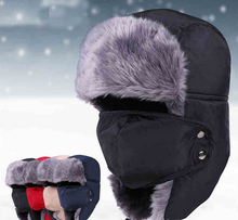 2014 New Winter fur hats Outdoor Windproof Thick warm winter snow women cap Face Mask men's cycling hat(China (Mainland))