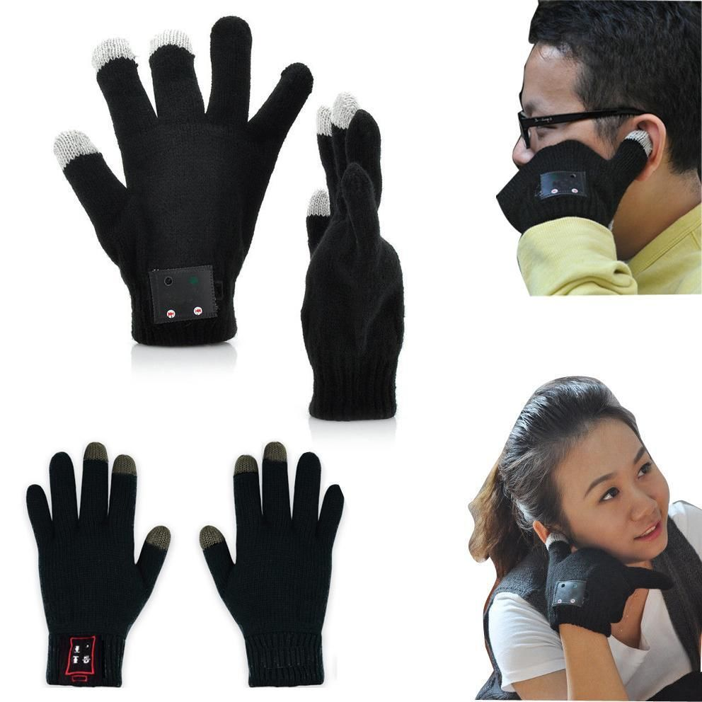 Winter Bluetooth Talking Magic Glove Handset for Smart Phone Tablet Men Women Speaker+microphone Telefingers Touchscreen Luva(China (Mainland))