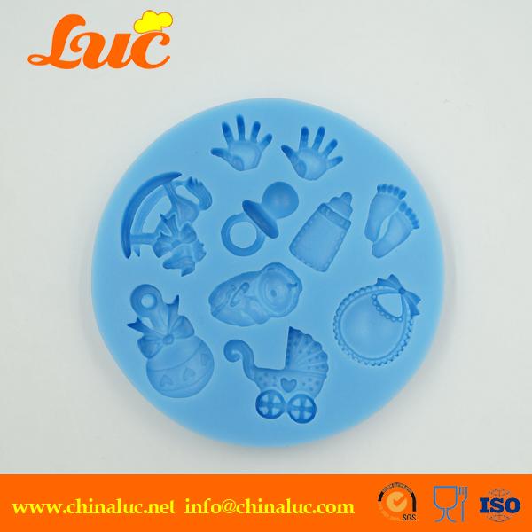 High quality newest 2015 DIY LSM092 baby hand silicone decoration handmade fondant cake decorating tools 3d(China (Mainland))