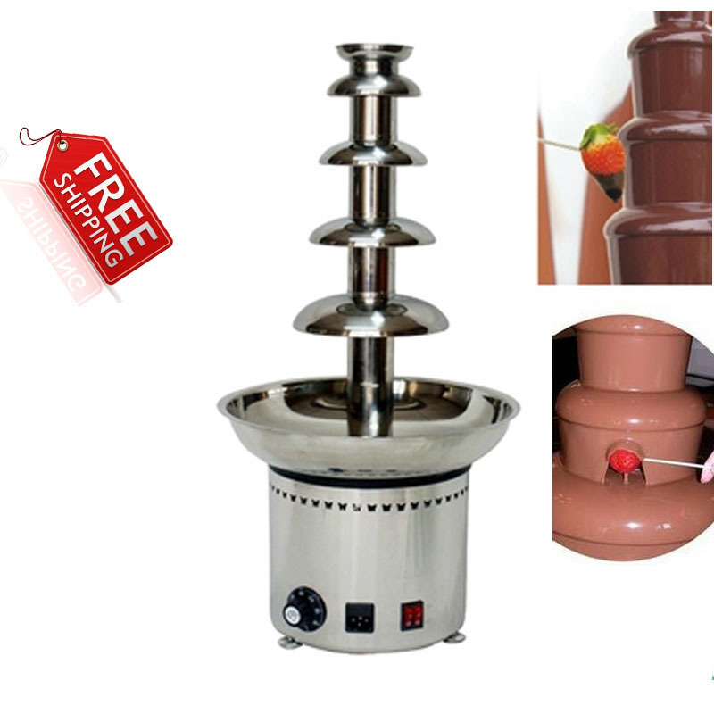 Stainless steel auger chocolate fountain 5 tiers commercial use UK AU USA plug Free shipping