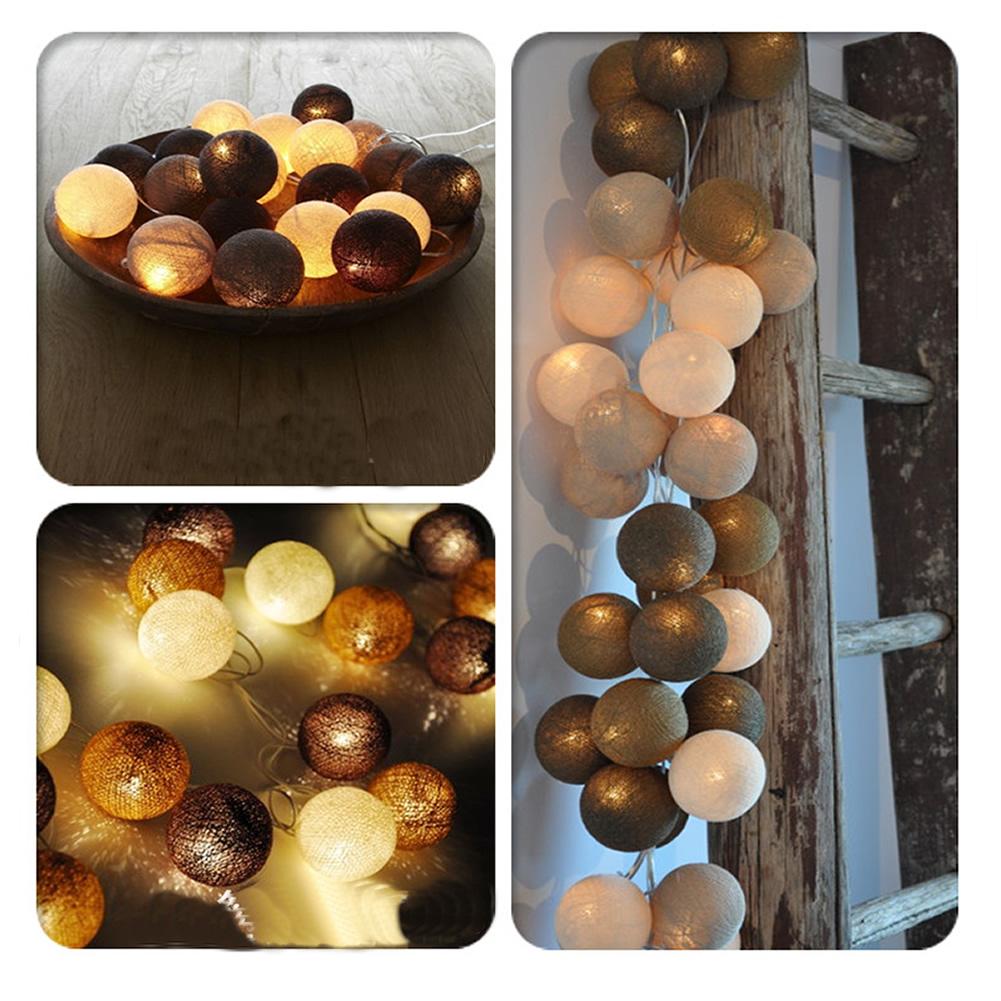 Aladin Romantic Gorgeous 4.5M 35 Coffee Creative Handmade Cotton BALL String Light For Xmas Feast Banquet<br><br>Aliexpress
