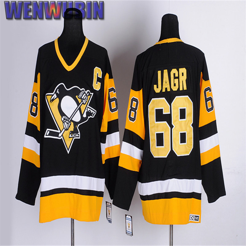 [WENWUBIN] Men's #68 JAROMIR JAGR Throwback CCM Hockey Jerseys High Quality Embroidered Name&Number Size M-3XL(China (Mainland))