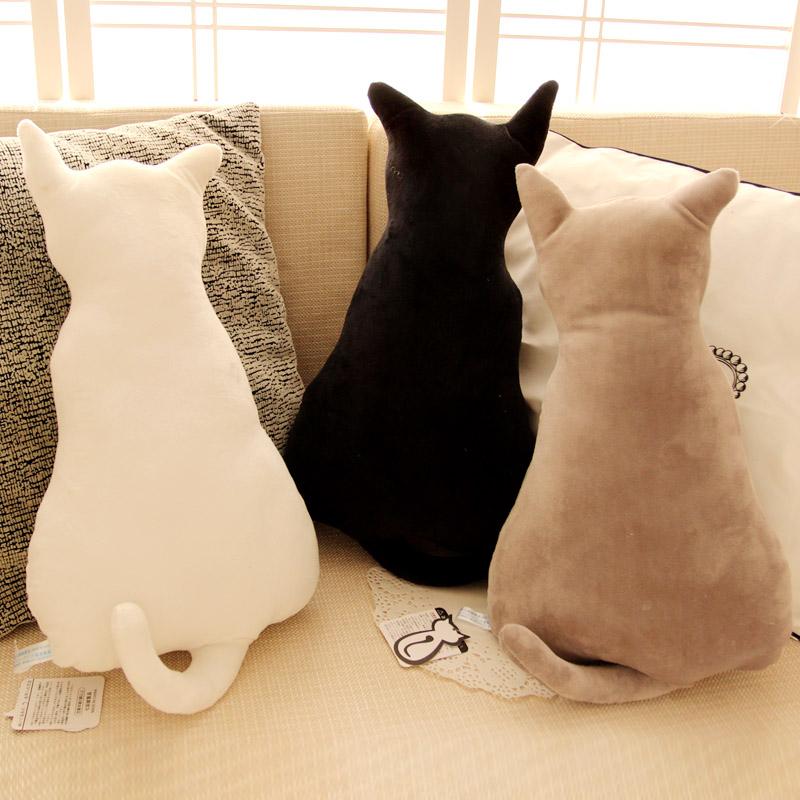 45cm Creative Cute Cat Silhouette Cushions Plush Toy Doll