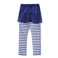 Free Shipping New 2016 Baby Girls fashion Leggings,Navy Bow Kids fashion Pants,Girl fashion Striped Leggings,Dot Skirt pant