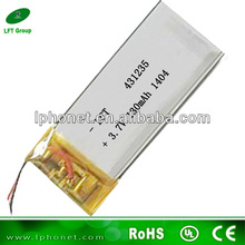 431235 3.7v 130mah polymer rechargeable battery solar watch(China (Mainland))