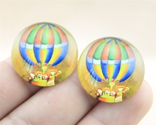 1pcs 25mm or 20mm hot air balloon photo Pattern domed glass cabochon Handmade diy pendant G20-0151 G25-0151(China (Mainland))