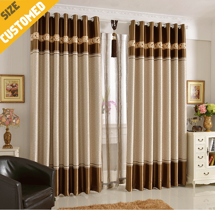 """2015 NEW Curtains Livingroom Window Curtains blackout 85% sheers (59""""W X 106""""H*2pc)Bedroom curtains tulle hook style Customized(China (Mainland))"""