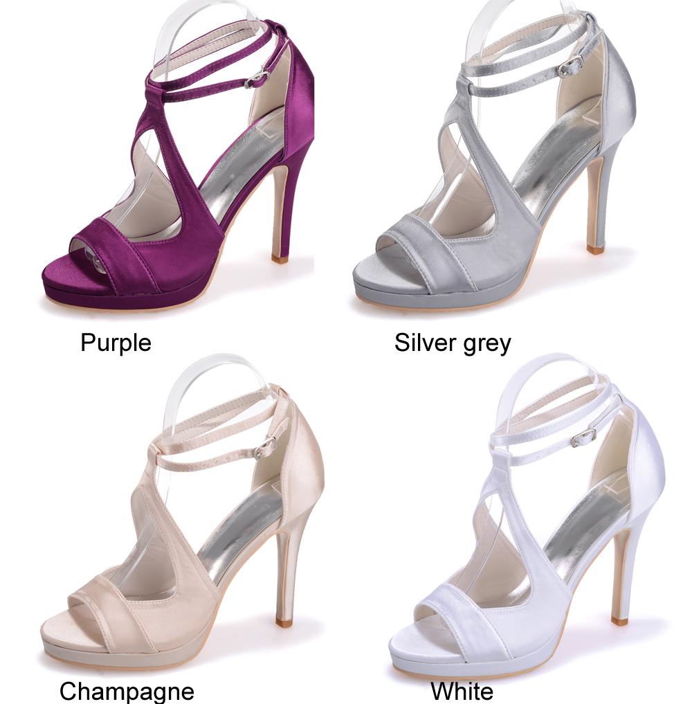 Purple High Heel Sandals - Is Heel