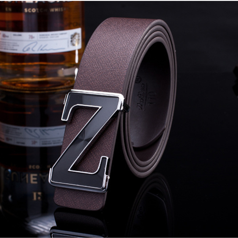 2016 Stylish Belts Men High Quality Genuine Leather Designer Belts For Men Belts Smooth Metal Buckle ceinture luxe homme(China (Mainland))