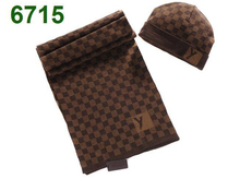 ( 2 pieces /set )High quality Fashion style designer brand Plaid men / women winter wool scarf and hat sets / color brown , grey(China (Mainland))