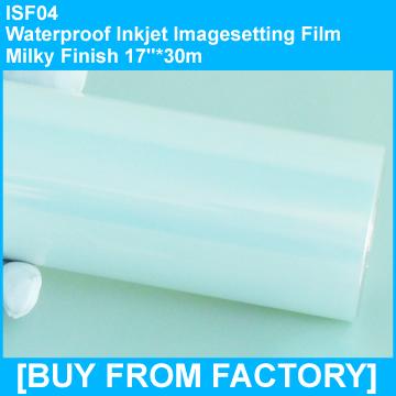 "Inkjet  Waterproof Film Milky Finish  for Screen Printing 17""*30M"