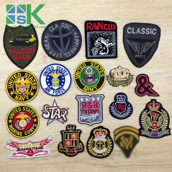 Patches 2016 Latest design 1 PCS United States Army Badges For DIY Cloth Patches Felt Fashion Embroidery Logo Stick On Label(China (Mainland))