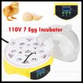 1Pcs 110V Mini Digital 7 Egg Capacity Chicken Duck Bird Incubator Tool Kit Home