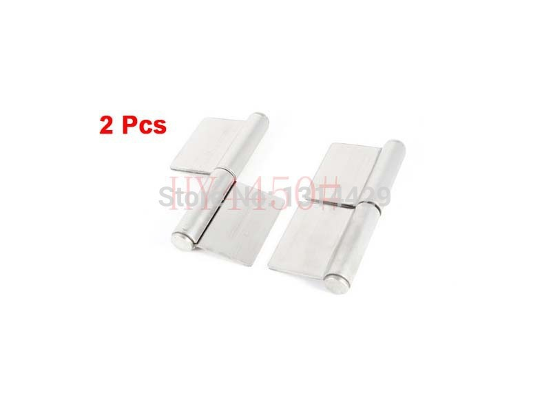 2 Pcs 5inch Stainless Steel Door Window Gates Flag Type Hinges Silver Tone(China (Mainland))