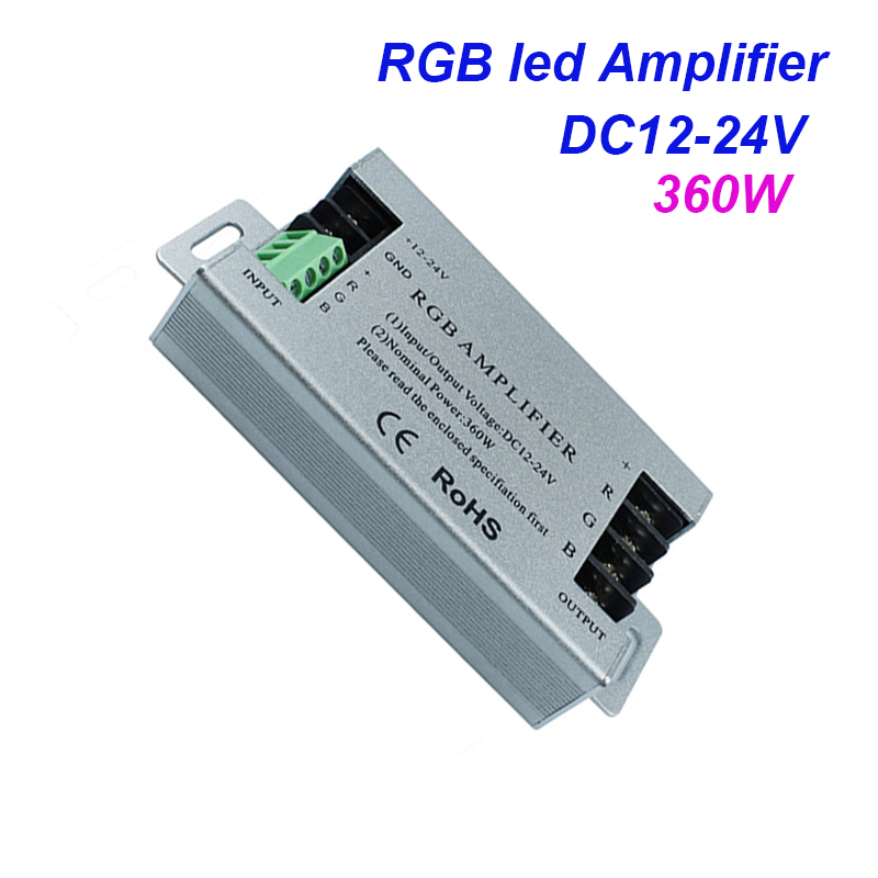 360W led amplifier DC12V 30A RGB strip amplifier DC12-24V for 5050 led strip light signal amplifier(China (Mainland))