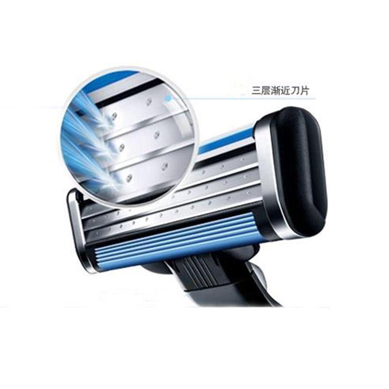 Hot 4pcs/lot Blade System Men Face Shaving Blades in Original package, shaving Razor Blade for men Standard for RU&Eu US(China (Mainland))