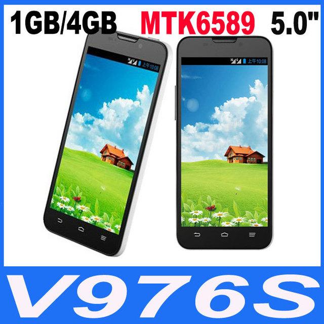 "multi language ZTE V967s Original 5.0"" Quad Core MTK6589 3G Smartphone 1GB /4GB Android 4.1 Dual Cameras IPS Dual Sim Cell Phone"
