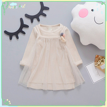 Buy Baby Girls Dress 2017 Spring Girl Princess Knitted Dress Kids Mesh Princess Dresses Girls Kids Clothes Children Fashion Costumes for $11.93 in AliExpress store