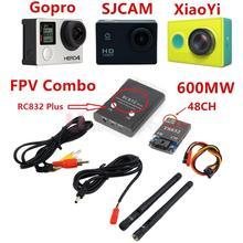 FPV 5.8 ГГц 600 МВт 48CH Беспроводной А. В. A/V приемник передатчик TS832 + RC832 плюс Tx и Rx Набор для Профессиональных Дронов RC Самолет QAV250