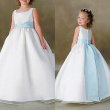 Pageant Dresses for Little Girls Ivory Ball Gown Plus Size Flower Girl Dresses for Weddings Communion(China (Mainland))