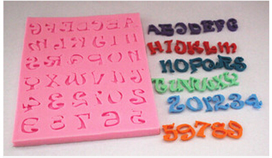Cake Decorations Letters And Numbers : New style 26 letters and numbers chocolate silicon mold ...
