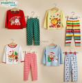 Wholesale 2017 Christmas clothes set children stripe suit set long sleeve T shirt pants 2 pieces