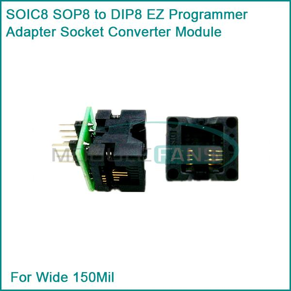Гаджет  SOIC8 SOP8 to DIP8 EZ Programmer Adapter Socket Converter Module For Wide 150Mil None Электронные компоненты и материалы