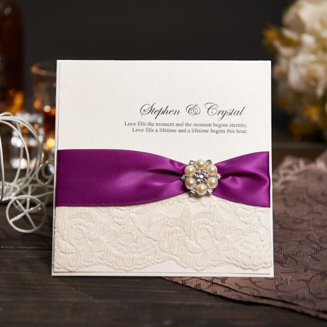 compare prices on evening wedding invitations online shopping buy Buy Evening Wedding Invitations personalized wedding invitations evening invites handmade with ribbon and rhinestone buckle lace vintage & rsvp buy evening wedding invitations