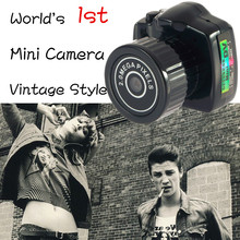 Y2000 Vintage Style World's Smallest Mini Digital Camera Tiny Camcorders Auto Vehicle Recorder DVR HD For Pet Tracking Recorder(China (Mainland))