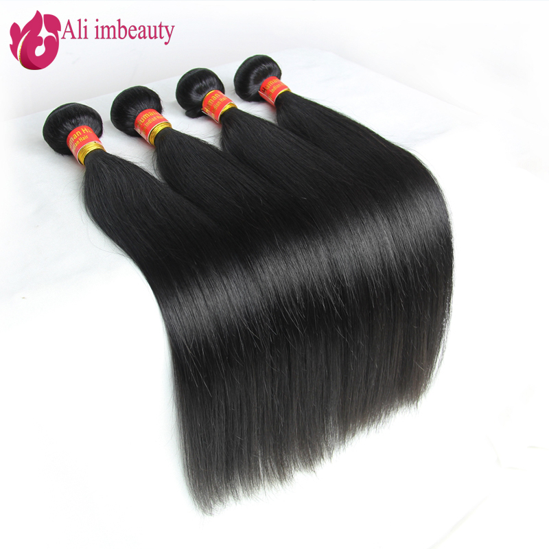 Peruvian Virgin Hair Straight 4pcs Lot Human Hair Weaves Peruvian Straight Hair 6A Grade Peruvian Hair Extension