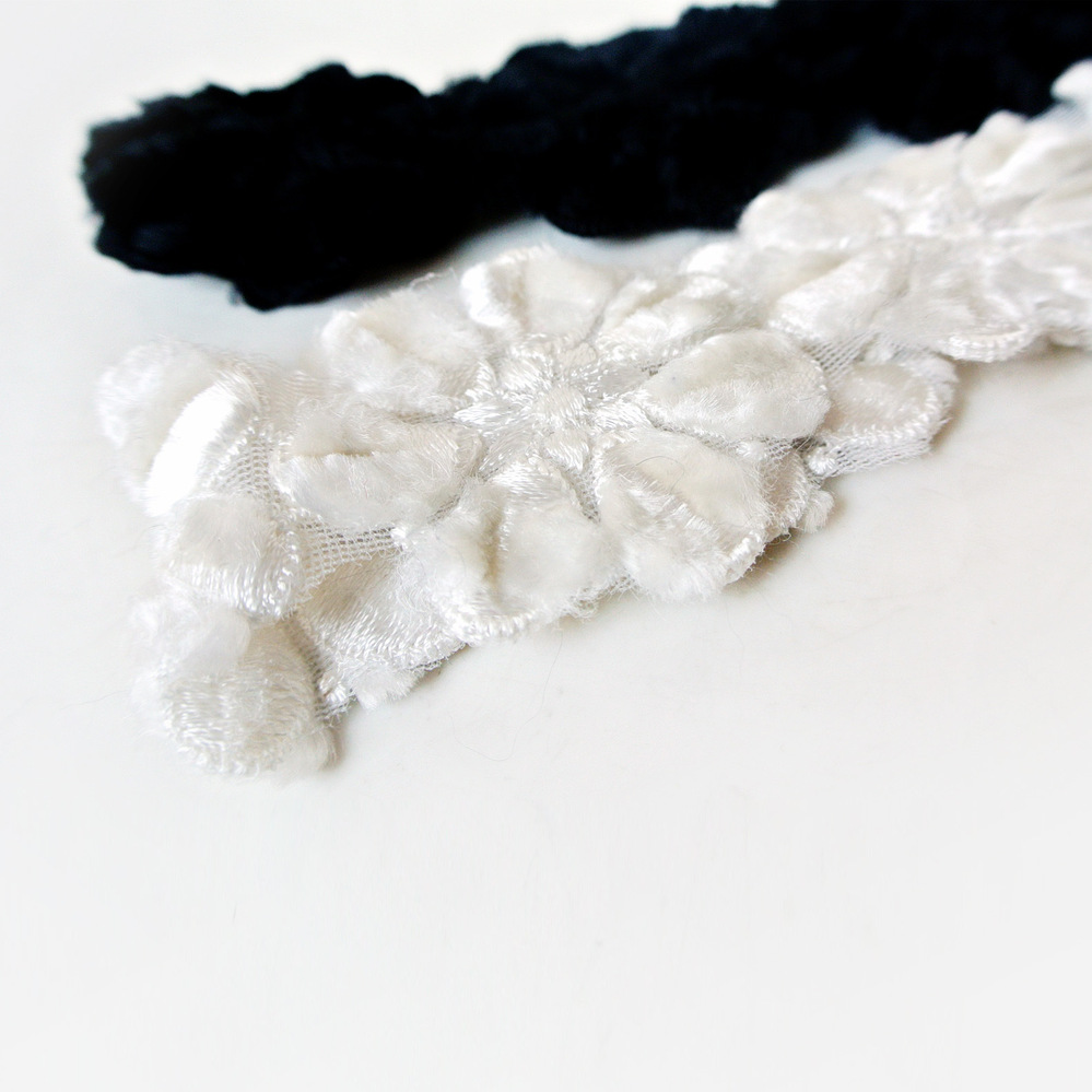 Ordering new winter Han noble cashmere products cashmere hand cut cotton lace hair band HB31216(China (Mainland))