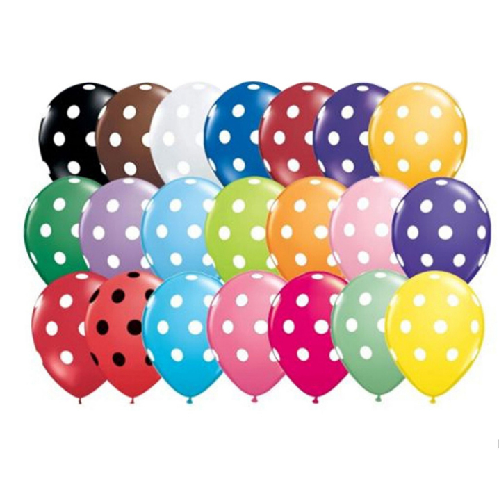 Essential 30pcs 12 inch Mixed colors Helium Inflatable Latex Balloons Polka Dot Pearl Birthday Wedding Festival Classic Toys625(China (Mainland))