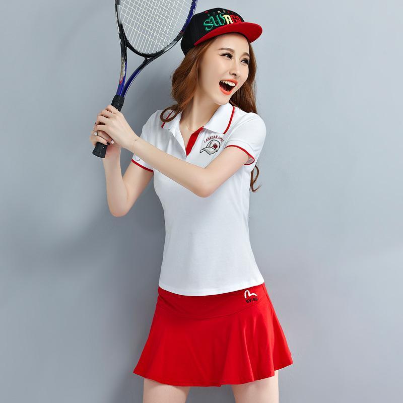 2016 Summer uniforms female tennis suit short sleeve short skirt show thin badminton(China (Mainland))