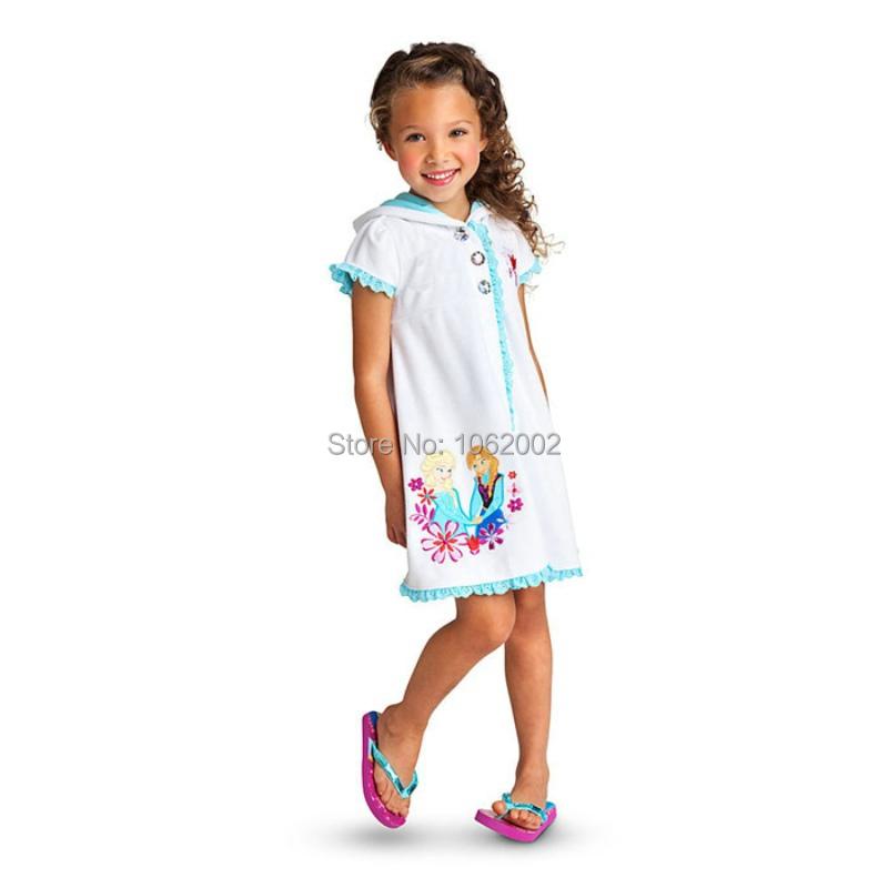 20pcs 2015 Girls Pajama Sleepwear Night Dress Kids Night Clothes Nightgown Nightie Anna Elsa Princess Lace Dresses Children Gift(China (Mainland))
