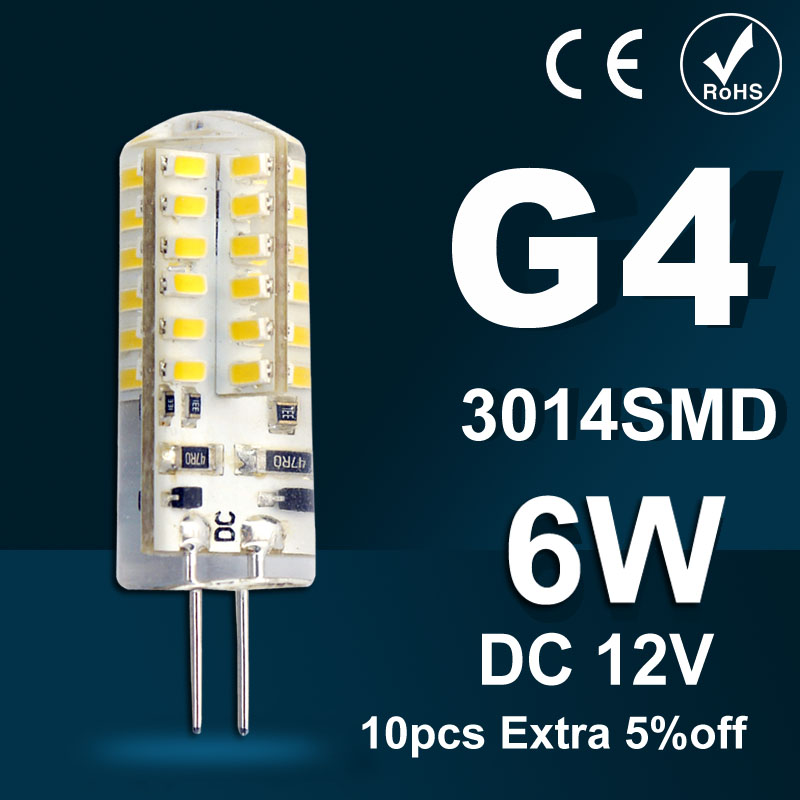 High Power G4 led lamp 3W 5W 6W DC12V Led bulb SMD3014 LED light 360 Beam Angle LED Spotlight Replace 30/60W halogen lamps light<br><br>Aliexpress
