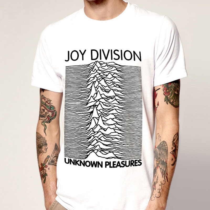 Fashion joy division t-shirt Customized Unknown Pleasures Men Post Punk Gothic Rock and Roll T Shirt Cotton Boy Cool Style Tees(China (Mainland))