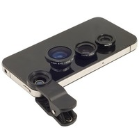 3 In 1 Universal Clip Camera Mobile Phone Lens Fish Eye + Macro + Wide Angle fisheye macro wide angle lens For Cell Phone
