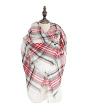 2016 Winter New Stylish Designer Versatile Tartan Fringe Colorful Woman Scarf Comfortable Wool Plaid Shawl Free Shipping