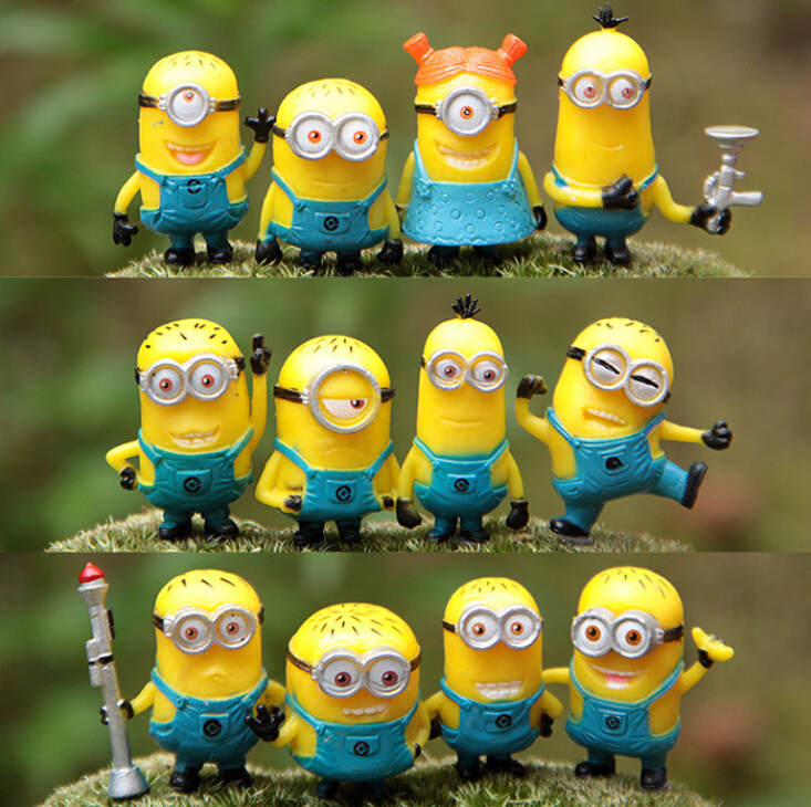 Гаджет  Toy 12PCS/DOZEN Despicable Me 2 Minion in Action Figures Minions Toys Doll Retail Despicable Me doll Minion Brinquedos C0A249 None Игрушки и Хобби