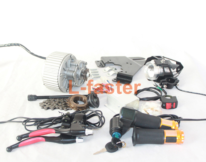 250W/450W ELECTRIC VEHICLE CONVERSION KIT DIY ELECTRIC BIKE COMPONENTS LED LENS HEADLAMP THROTTLE HANDLE BATTERY POWER INDICATOR(China (Mainland))