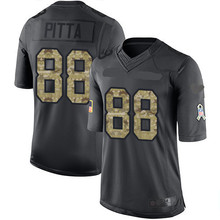 Men's #88 Dennis Pitta Black Alternate Elite Autographed Jersey 100% stitched(China (Mainland))