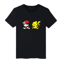 Pocket Monster Funny Cartoon Men TShirt Short Sleeve T-shirt with Pokemon Go T Shirt Men Famous Brand in 4xl Tee Shirt and Tops